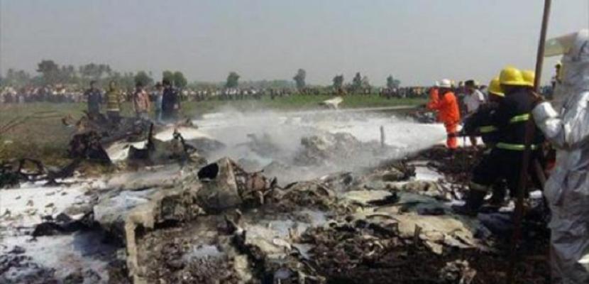 مقتل 12 شخصا على الأقل في حادث تحطم طائرة عسكرية في ميانمار