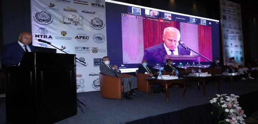 """خلال افتتاح مؤتمر """"مارلوج 10"""" .. وزير النقل: استراتيجية شاملة لتطوير الموانئ المصرية وزيادة قدراتها التنافسية"""