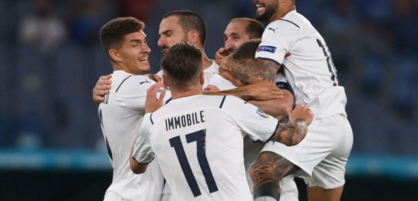"""منتخب إيطاليا يفوز على نظيره التركي بثلاثية في افتتاح """"يورو 2020"""""""