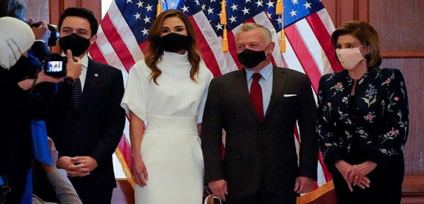 رئيسة مجلس النواب الأمريكي تستقبل ملك الأردن وولي عهده في الكابيتول