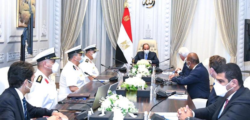 الرئيس السيسي يبحث مع الجانب الألماني سبل تطوير منظومة الصناعات البحرية