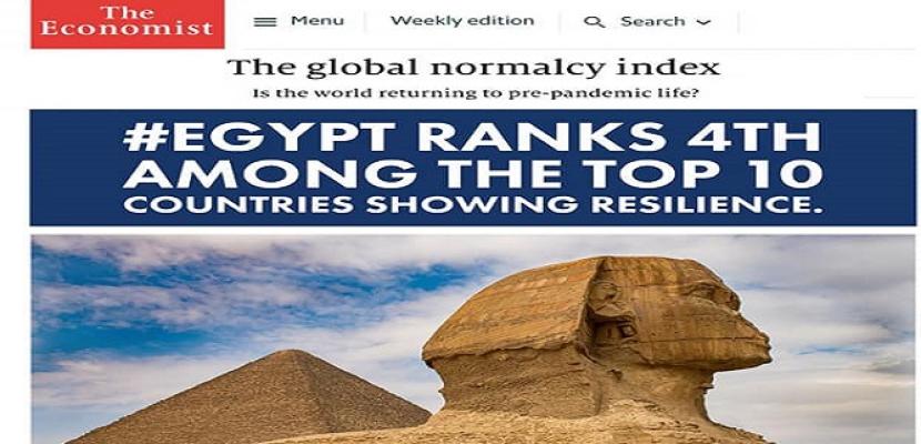 المشاط : مصر تحتل المرتبة الرابعة عالميًا في مؤشر الإيكونوميست حول عودة الحياة لطبيعتها
