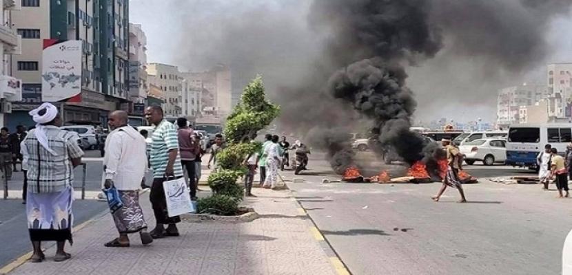 المكلا اليمنية تشهد احتجاجات واسعة بسبب انقطاع الكهرباء