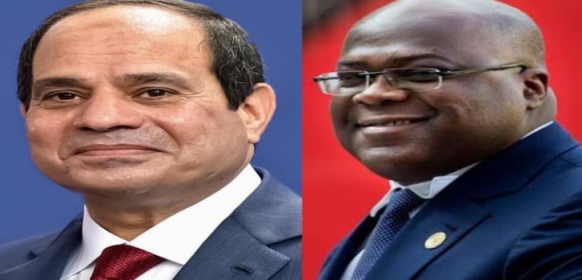 السيسي لرئيس الكونغو: نقلة نوعية في البنية التحتية والتحول الرقمي بين البلدين