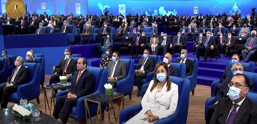 الرئيس السيسي يشهد فاعلية اطلاق تقرير الامم المتحدة للتنمية البشرية في مصر لعام ٢٠٢١