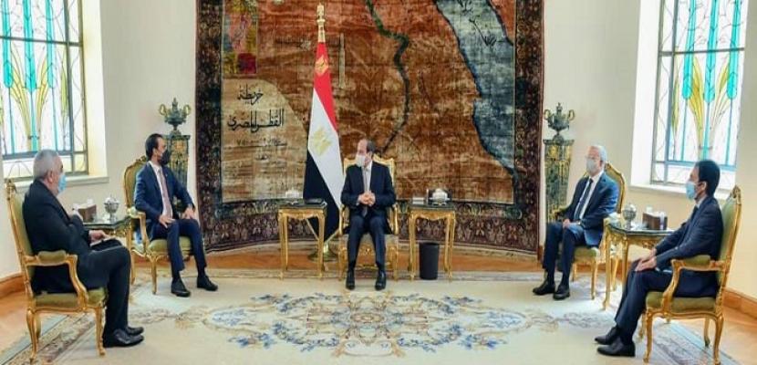 السيسي يؤكد رفض مصر كافة التدخلات الخارجية فى شئون العراق