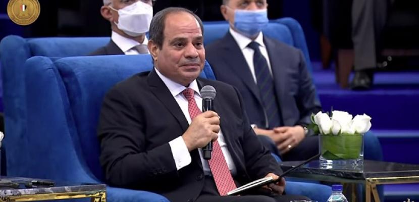 الرئيس السيسي: تقرير التنمية البشرية شهادة للشعب المصري وليس للدولة فقط كونه يتسم بالشفافية