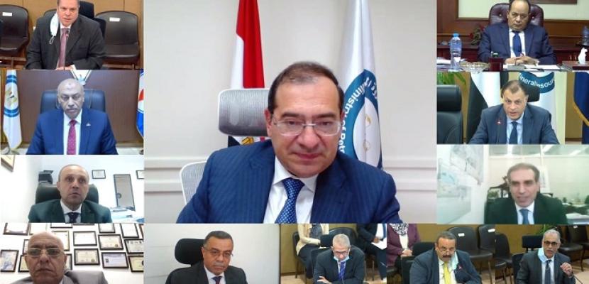 وزير البترول يعتمد نتائج أعمال شركتي النصر والسويس لتصنيع البترول