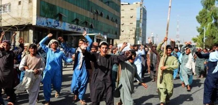 تظاهرات ضد طالبان بقندهار احتجاجاً على أوامر طرد من المساكن