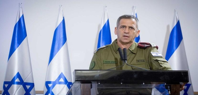 تعليقاً على التصعيد الحالي .. رئيس الأركان الإسرائيلى : حماس وغزة ستدفعان ثمناً باهظاً إذا تدهورت الأمور