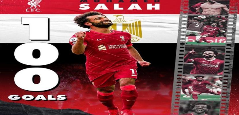 كاف يحتفل بالهدف 100 لمحمد صلاح في الدورى الإنجليزى