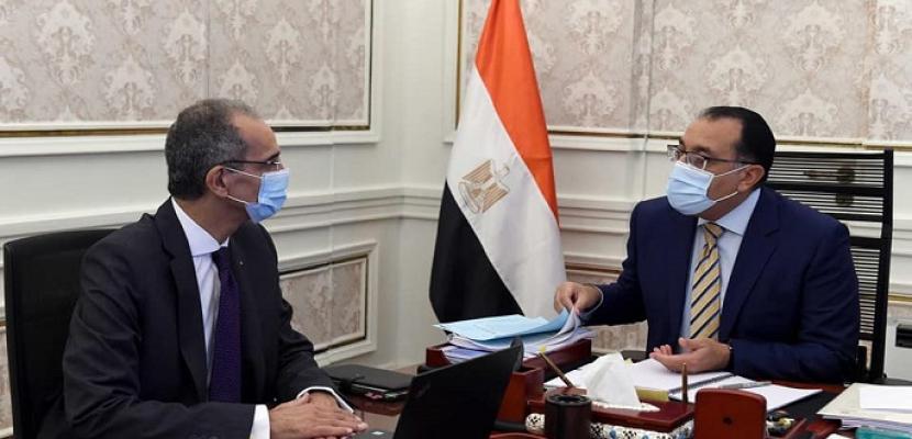 بالصور .. رئيس الوزراء يتابع مع وزير الاتصالات ملفات عمل الوزارة