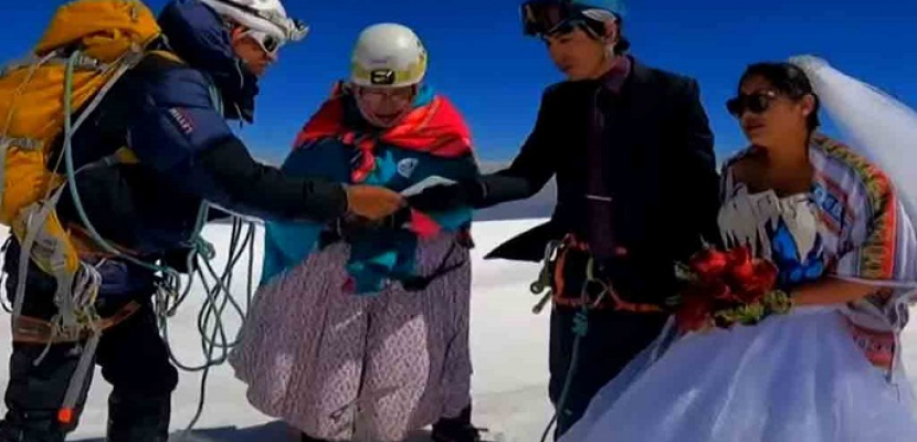 حفل زفاف على جبل ارتفاعه 6000 متر