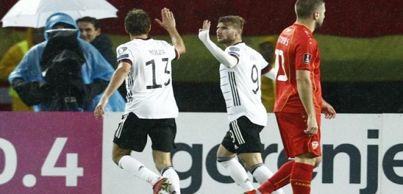 ألمانيا أول المتأهلين لكأس العالم برباعية في مقدونيا الشمالية