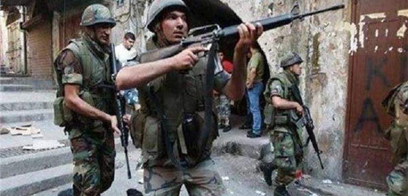 الجيش اللبناني: إطلاق نار من أسلحة حربية وقذائف على دورية أثناء ضبط أحد المطلوبين
