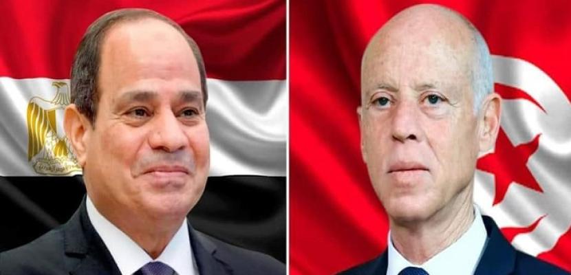 الرئيس السيسي يهنئ الرئيس التونسي بمناسبة تشكيل الحكومة الجديدة وأدائها اليمين الدستورية