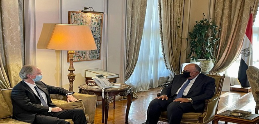 بالصور.. شكري يؤكد دعم مصر لكافة المساعي الرامية إلى إيجاد تسوية شاملة للأزمة السورية
