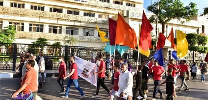 مسيرات شبابية بمحافظات الجمهورية احتفالا بذكرى نصر أكتوبر