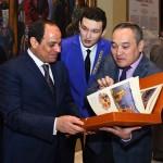 السيسى يزور متحف كازاخستان الوطنى