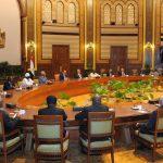 السيسى يستقبل رؤساء المحاكم الدستورية