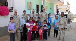 تلاحم قوات إنفاذ القانون مع أهالي سيناء الشرفاء