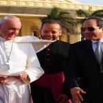 الرئيس عبد الفتاح السيسي يودع بابا الفاتيكان
