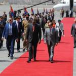 السيسى وقرينته يستقبلا الرئيس الكينى أوهورو كينياتا وقرينته