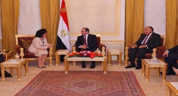 السيسى ووزيرة الثقافة البحرينية
