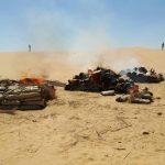 القوات المسلحة تواصل ملاحقة العناصر التكفيرية والإجرامية بشمال سيناء