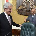 علي عبدالعال يستقبل رئيس الأورجواى