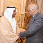 عبد العال يلتقي عادل بن عبد الرحمن العسومي نائب رئيس البرلمان العربي