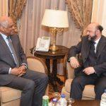 عبد العال يلتقي وزير الإعلام اللبناني