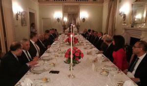 مأدبة عشاء على شرف رئيس البرلمان